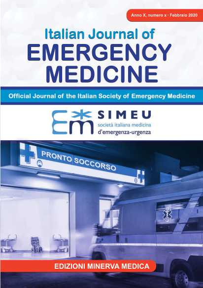 Italia Journal of Emergency Medicine Cover